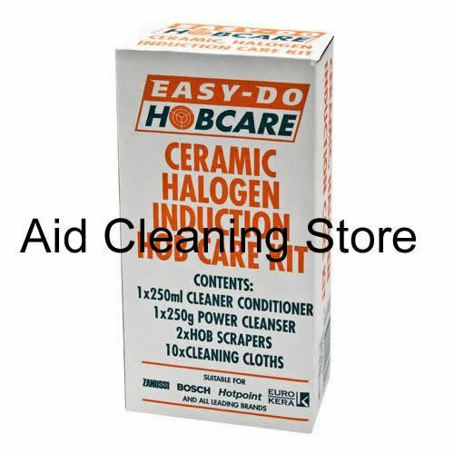 easy do ceramic halogen hob cleaner kit with hob scrapers cooker clean a80625 ebay. Black Bedroom Furniture Sets. Home Design Ideas