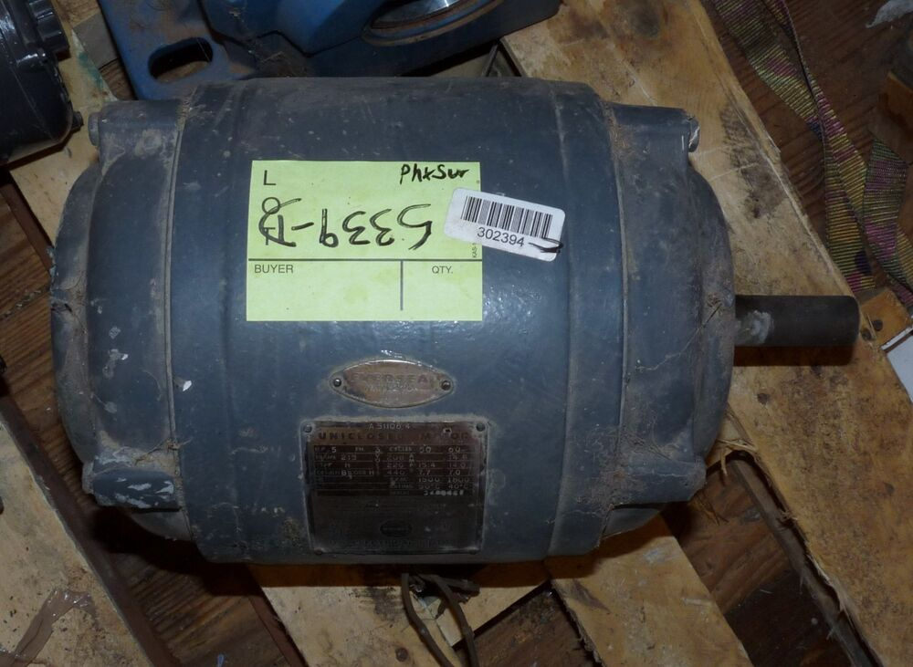 Us Electrical Uniclosed Motor 5hp 3 Phase 208 220 440 Volt