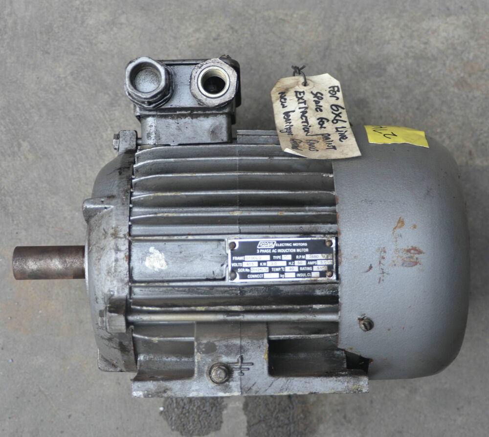 3 Phase Ac Induction Motor 3kw 2 Pole 2880rpm Cmg New