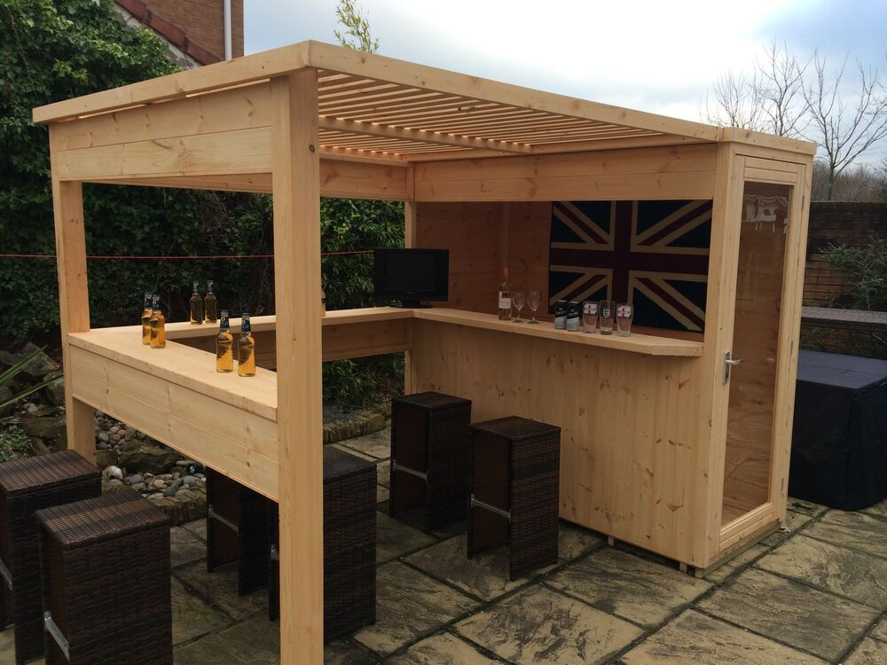 Sports Bar With Removable Security Hatch Outdoor Garden Quality Man Cave Ebay