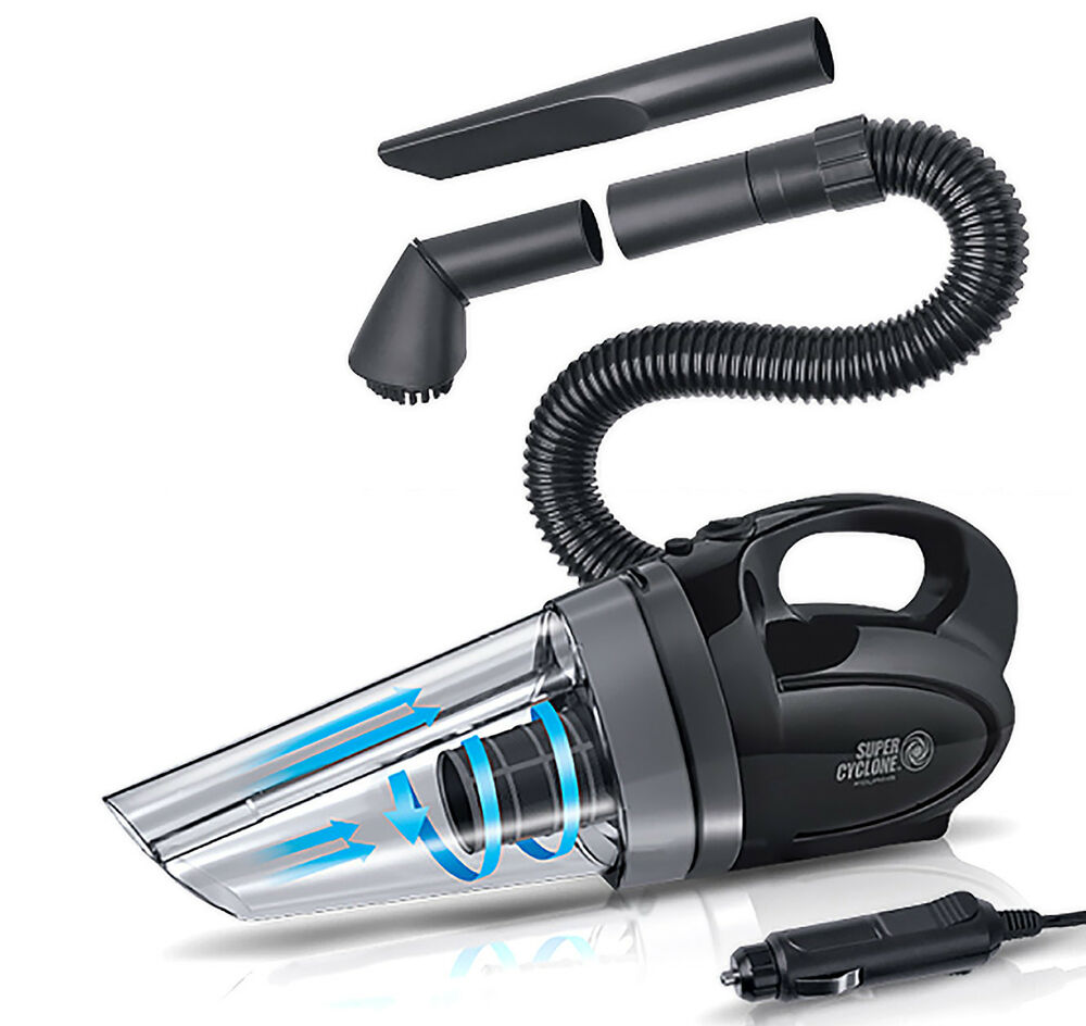 portable super cyclone handheld car vacuum cleaner wet dry 12v 150w 13ft dirt ebay. Black Bedroom Furniture Sets. Home Design Ideas