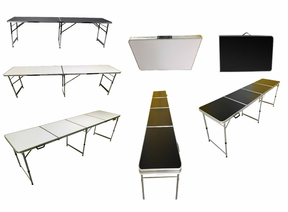 5FT 6FT 8FT FOOT ALUMINIUM FOLDING TABLE CATERING CAMPING MARKET FREE DELIVER