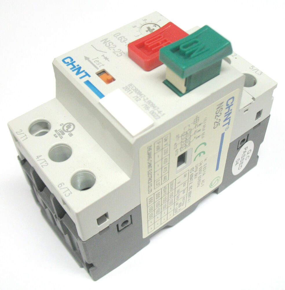 Manual motor starter disconnect switch 2 5 4 amp 120 230 for Manual motor starter with overload protection
