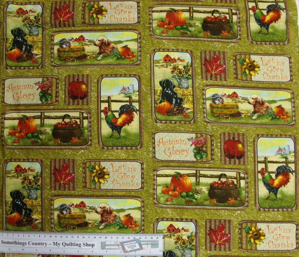 Patchwork Quilting Fabric - Autumn Bountry allover ...