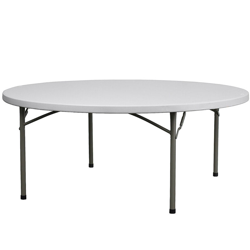 Lot of 10 6ft round banquet catering folding tables ebay for 10 foot round table