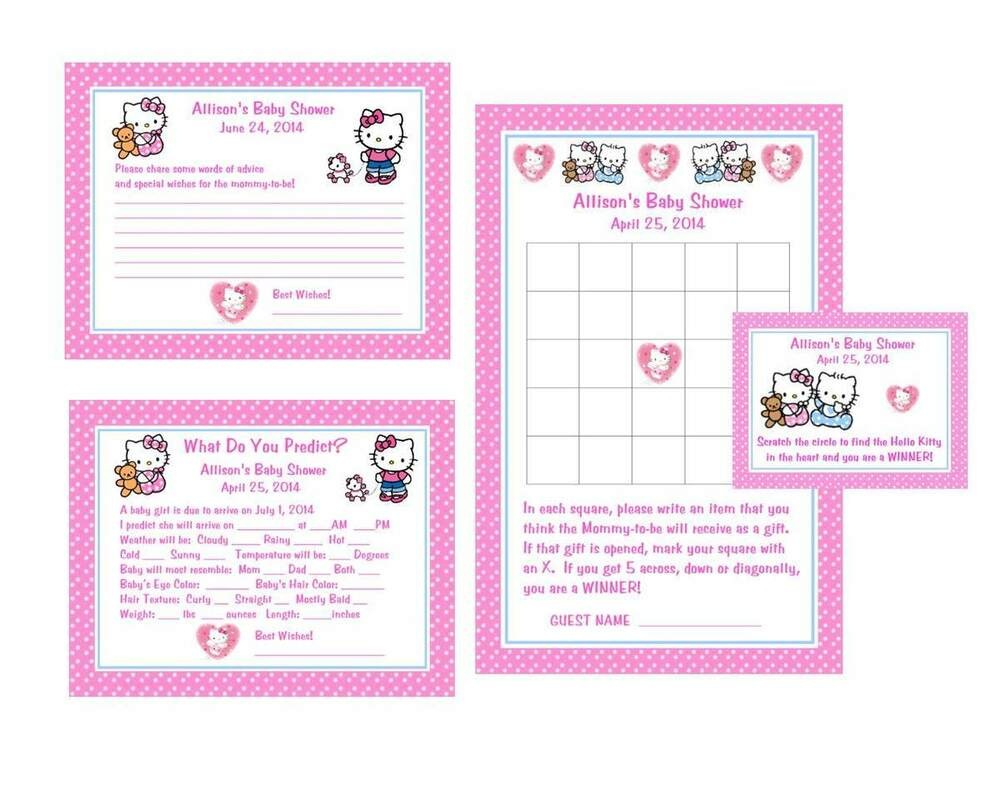 hello kitty baby shower game package 1 ebay