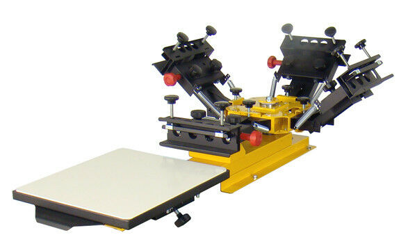 how to make a 4 color screen printing press