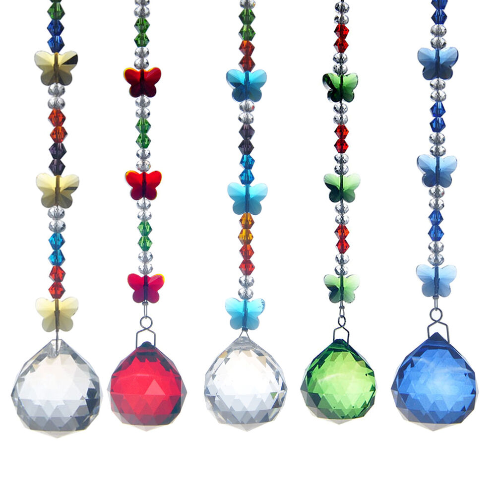 Crystal Chandelier Ball Prisms Hanging Suncatcher Xmas ...