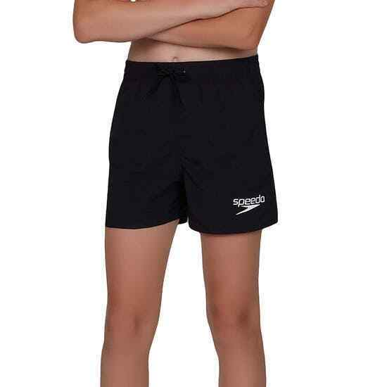SPEEDO BOYS SOLID SWIM SHORTS SWIMMING TRUNKS BLACK S M L ...