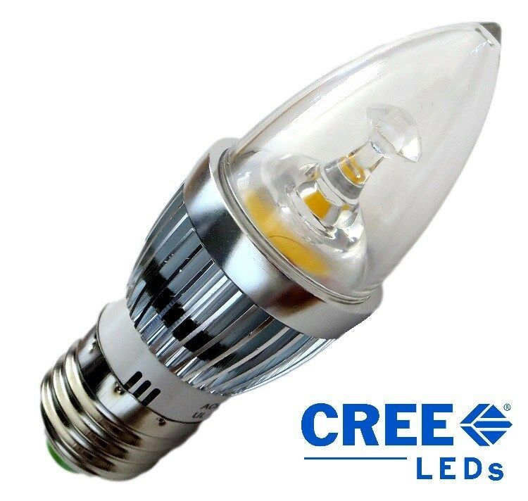 cree chips e27 base 5w 500 lumen candle led bulb 50w replacement ebay. Black Bedroom Furniture Sets. Home Design Ideas