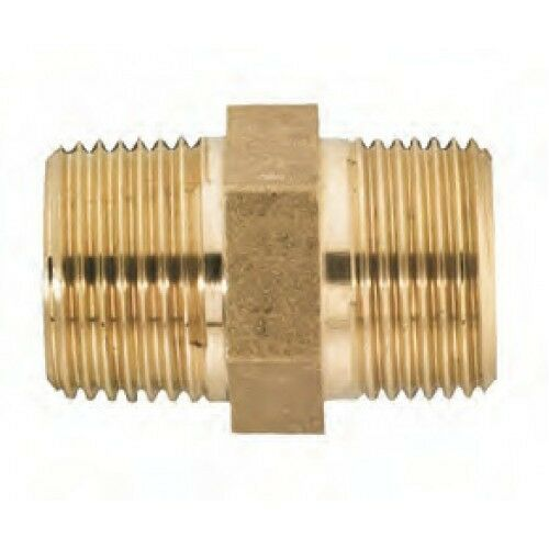 Npt male equal brass nipple adapter for air water