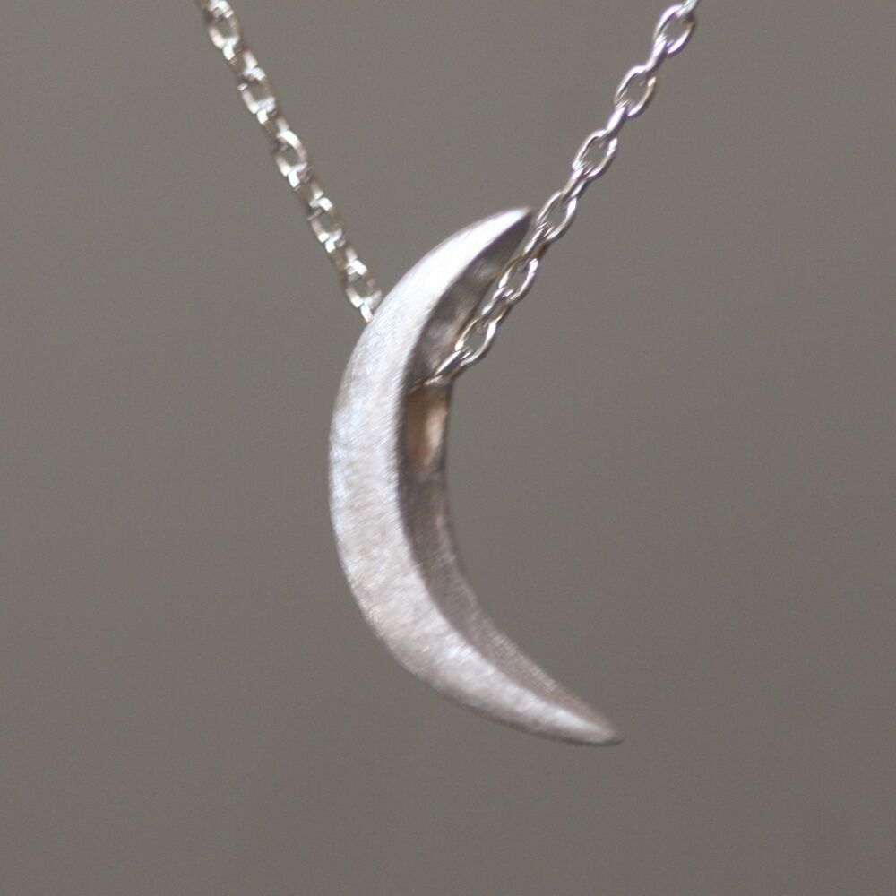 Michelle Chang: Crescent Moon Necklace, in Sterling Silver ...
