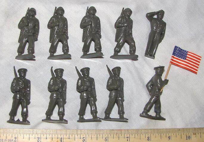 Vintage Vs Antique >> Marx reissue 60mm GIs marching toy soldiers | eBay