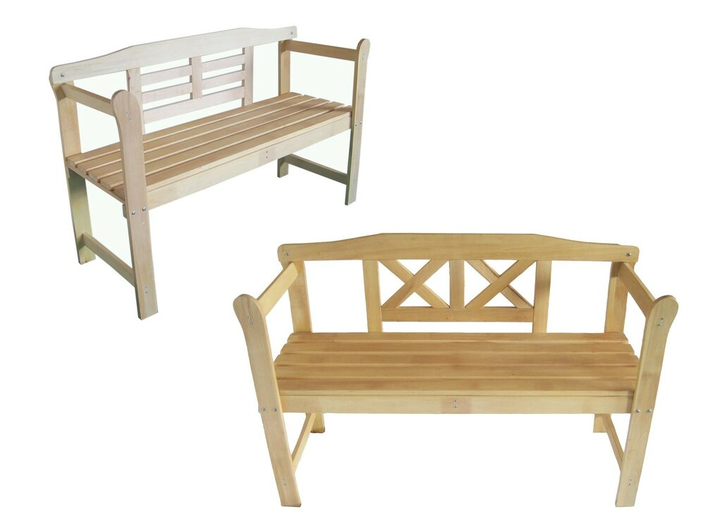 Foxhunter Home Outdoor 2 Seat Seater Wooden Garden Bench Wood Furniture Park Ebay