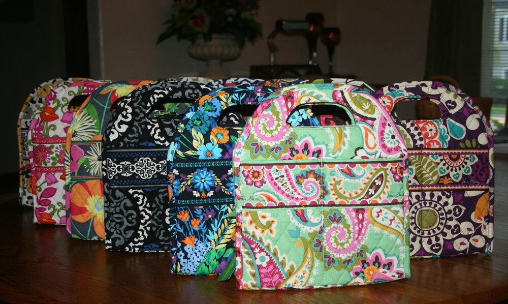Nwt Vera Bradley Lunch Tote Insulated Bag Sack Date Bunch