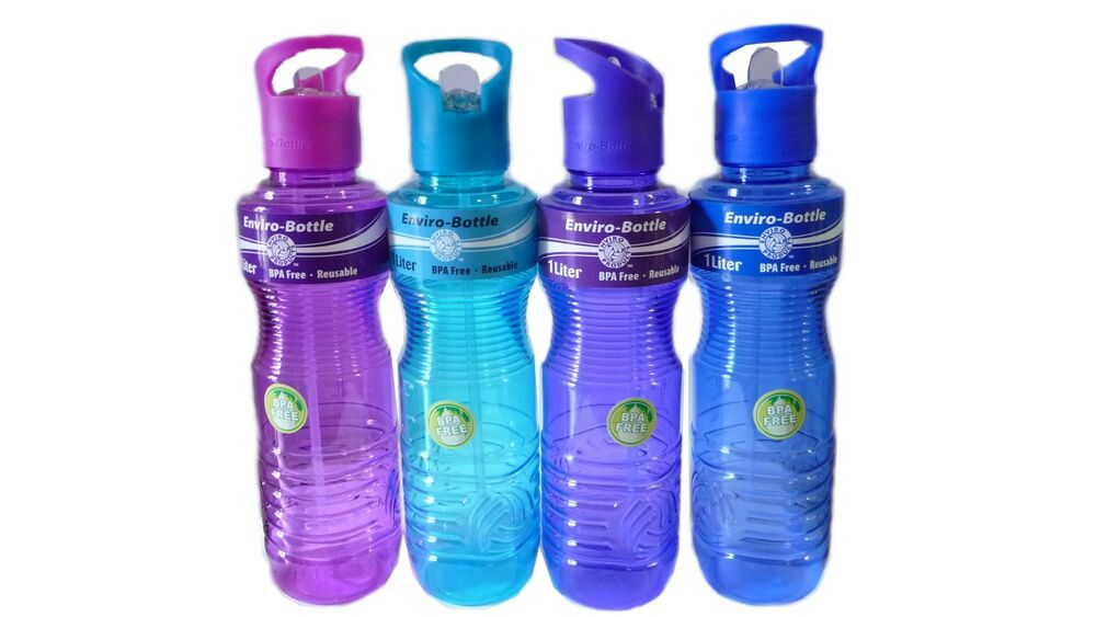 new bpa free eco friendly 1 liter sports water bottle container camping cycling ebay. Black Bedroom Furniture Sets. Home Design Ideas