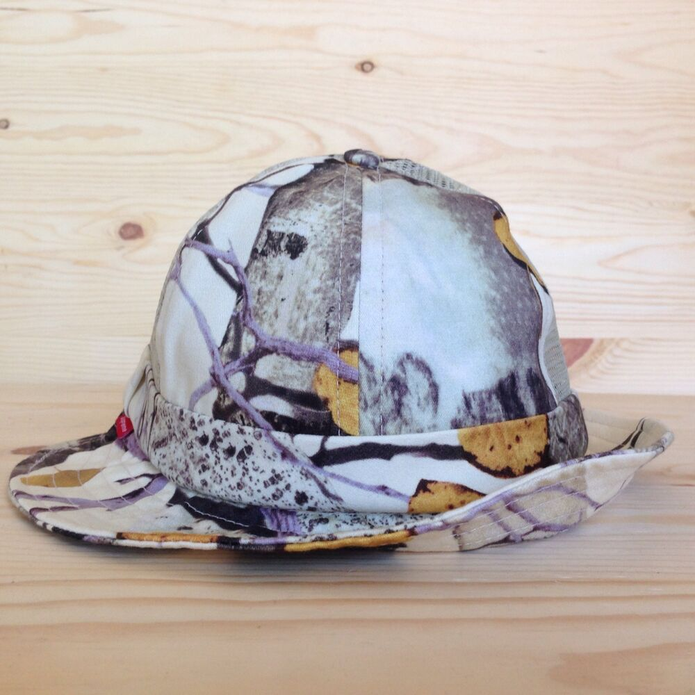 supreme aspen wood bell crusher bucket hat camo military