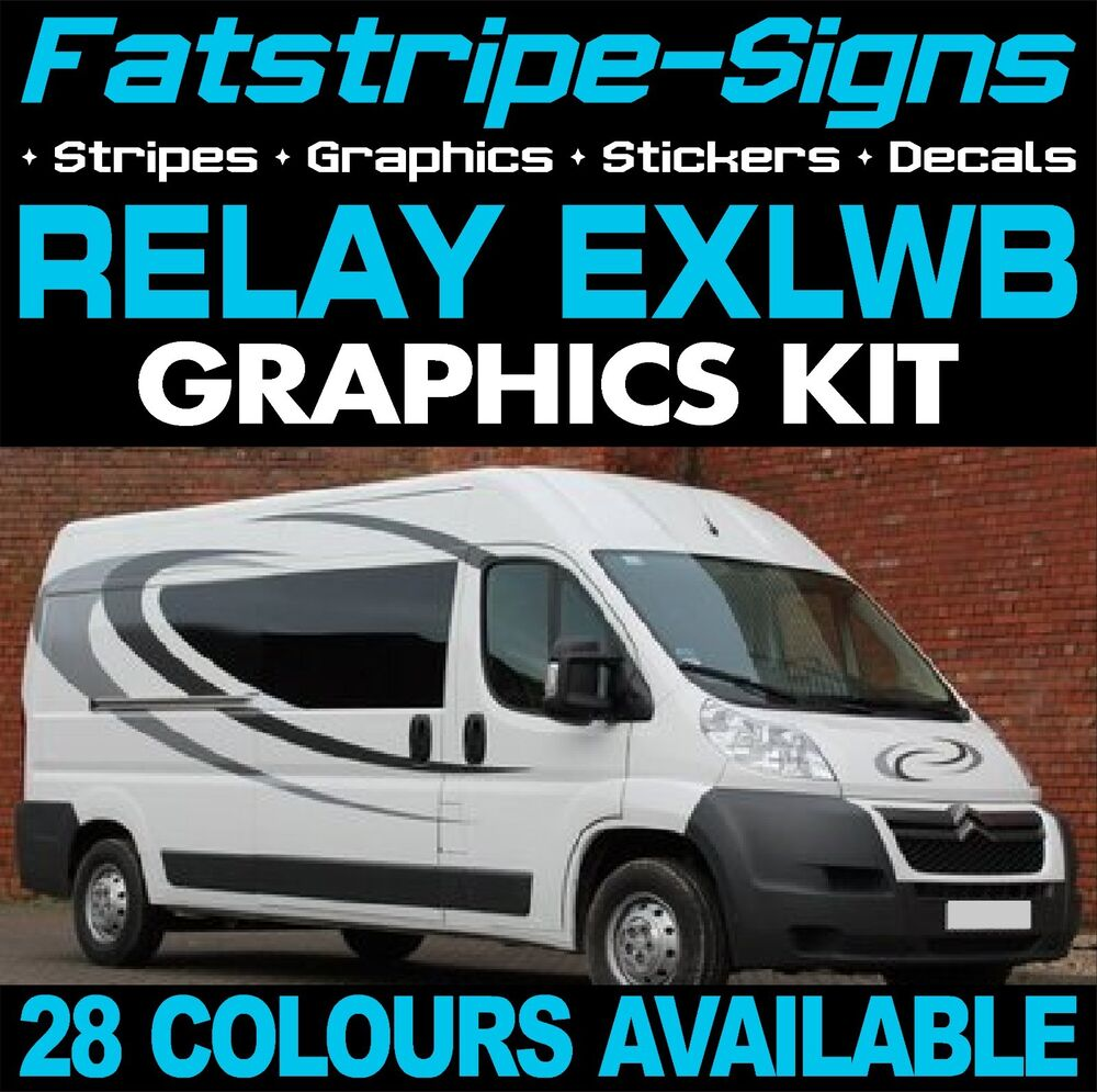 citroen relay l4 exlwb graphics stickers stripes decals. Black Bedroom Furniture Sets. Home Design Ideas