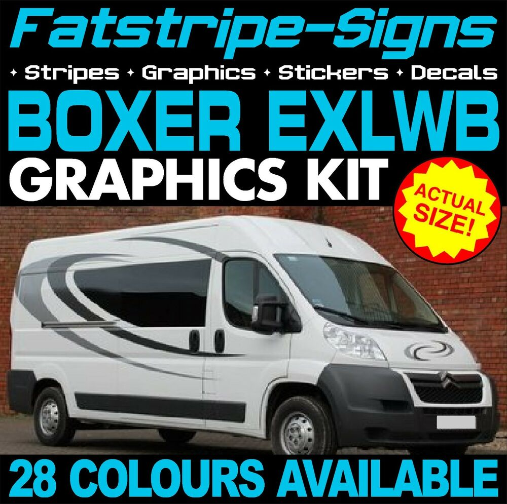 Peugeot boxer exlwb motorhome vinyl graphics stickers for Decals for rv mural