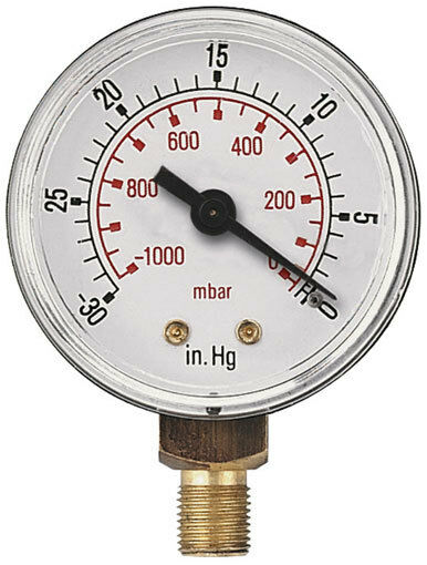 High Pressure Vacuum Gauge : Vacuum gauges mbar hg bspt male bottom