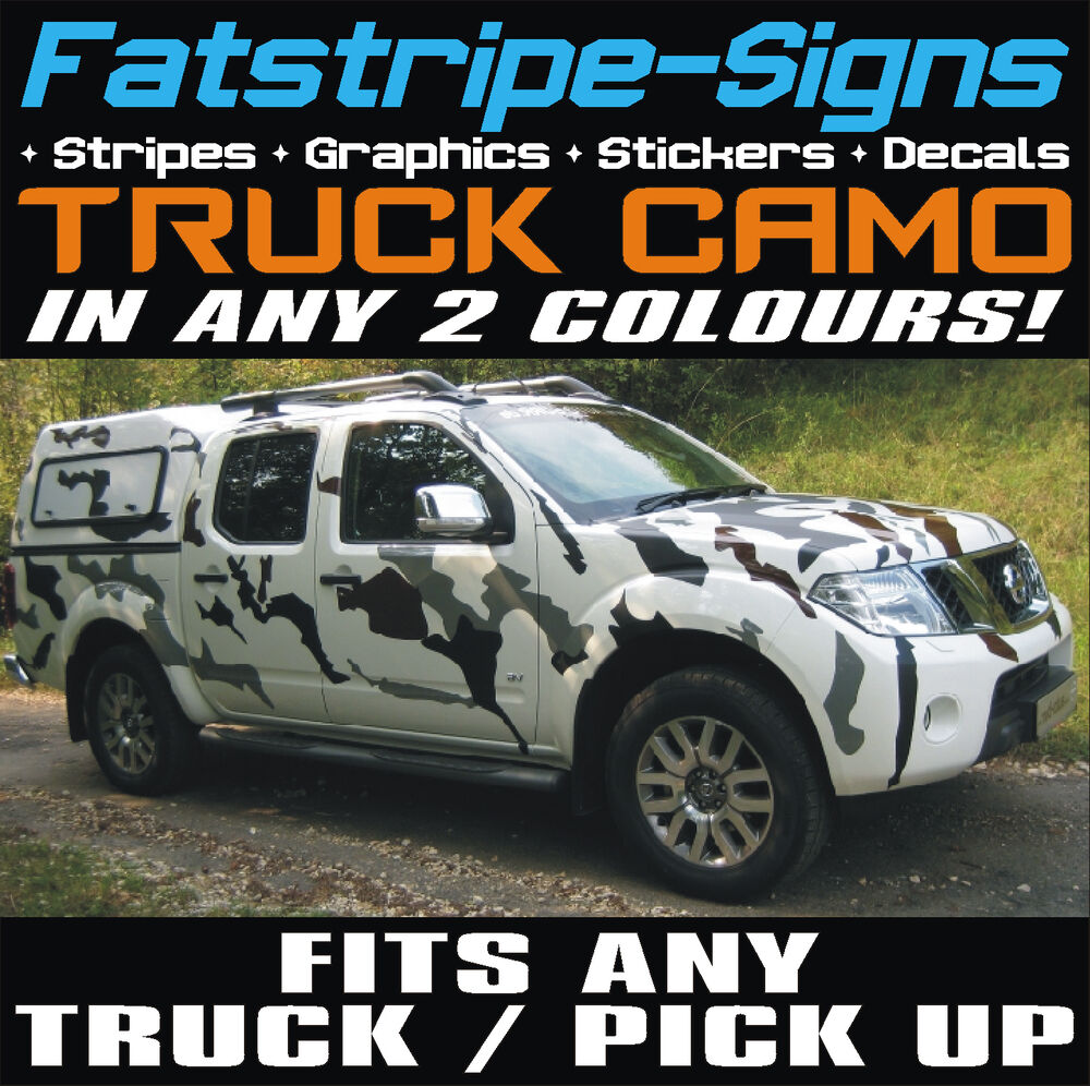 Nissan navara camion pick up voiture camouflage graphique stickers autocollants camouflage l200 ebay