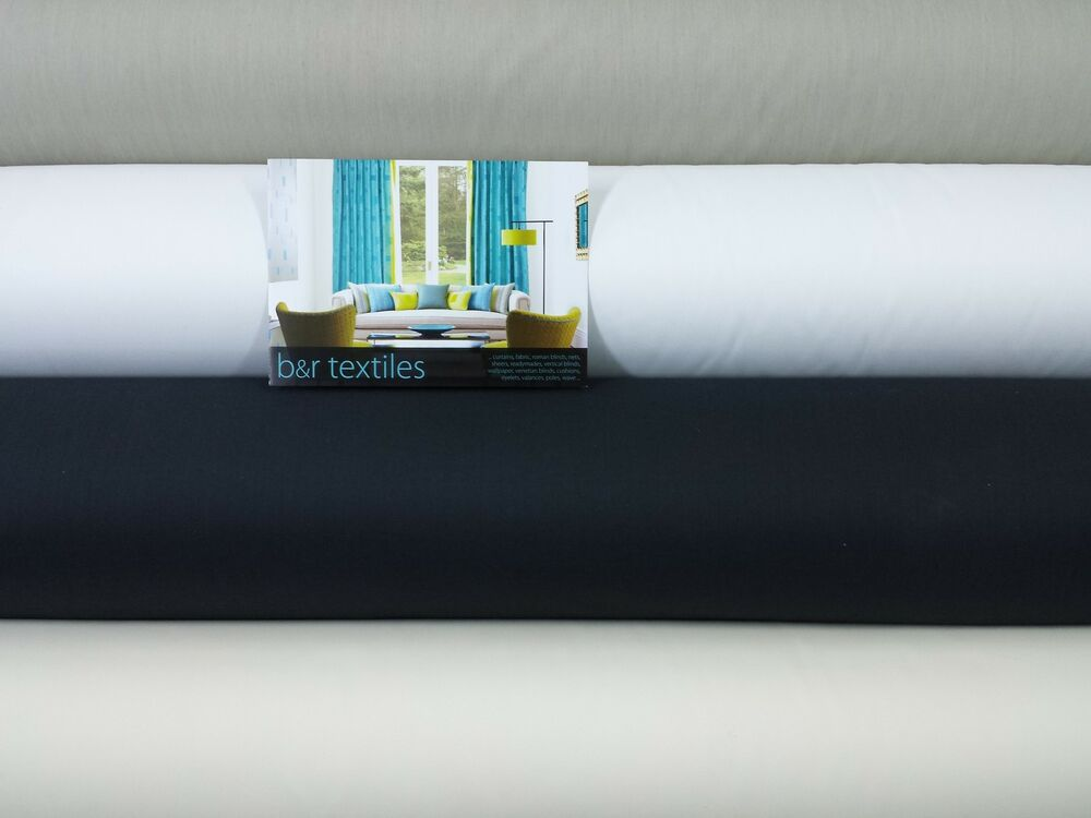 Lining Blackout Thermal Quality Curtain Lining Fabric 3 Pass 5 Colours Ebay