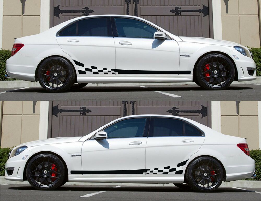 Spk133 Mercedes Benz C63 W204 Amg Euro Racing Stripes