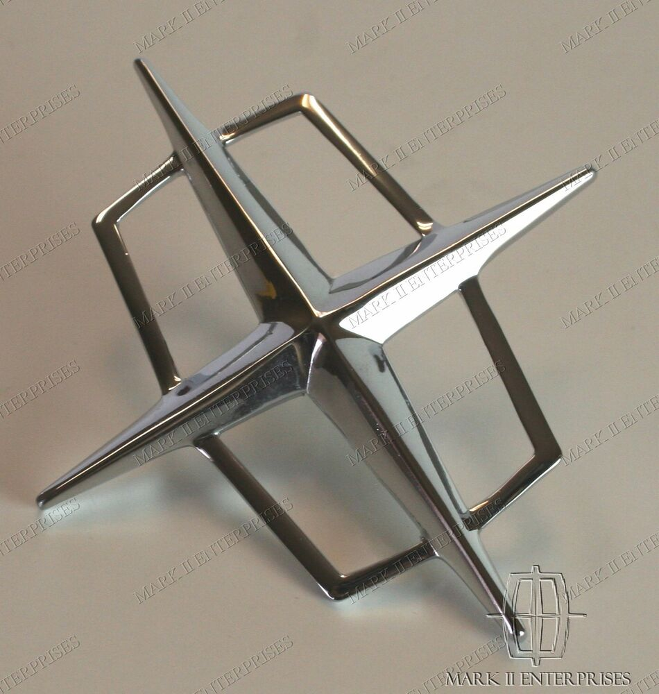 1961 69 Lincoln Roof Chrome Star Emblem Mounts To Quot C