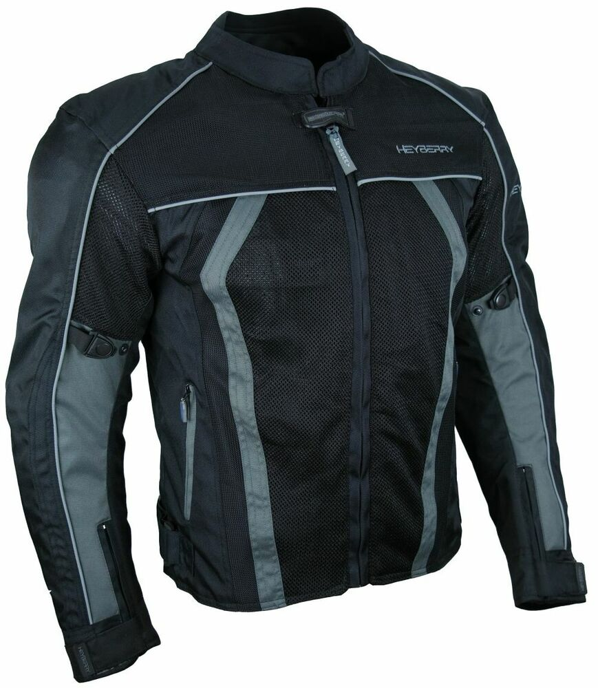 sommer motorradjacke airmesh motorrad jacke schwarz grau gr l ebay. Black Bedroom Furniture Sets. Home Design Ideas