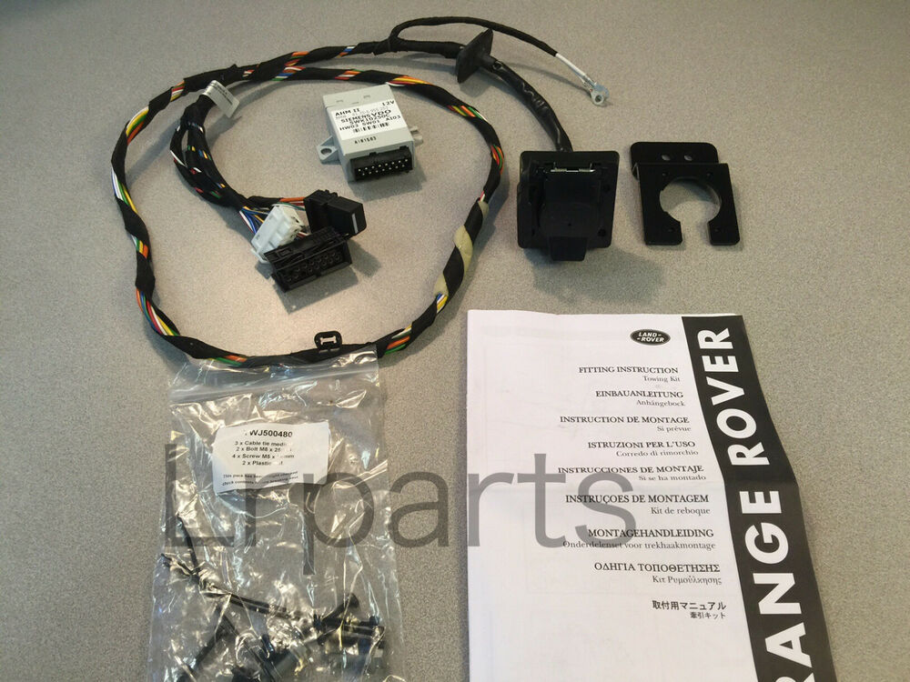 Land rover range tow towing hitch harness wires kit
