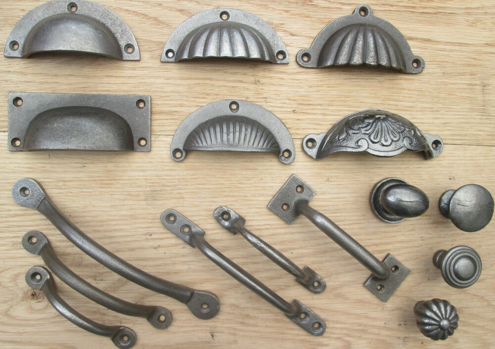 cast iron chest drawer wardrobe kitchen cupboard cabinet door handles knobs ebay. Black Bedroom Furniture Sets. Home Design Ideas