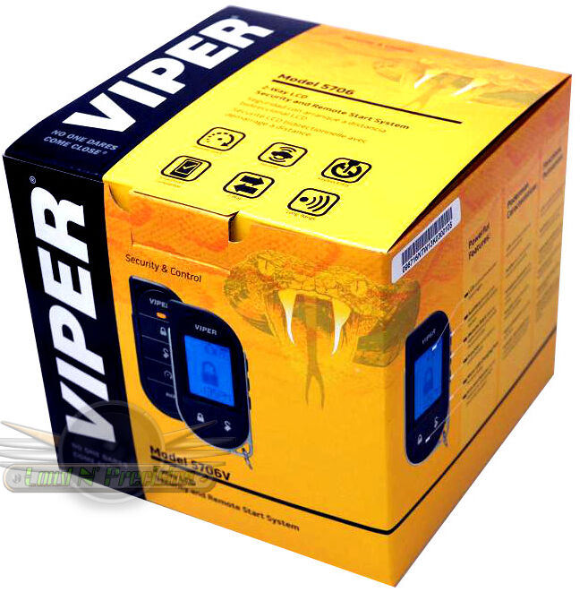 VIPER 5706 CAR ALARM WITH REMOTE START AND 2-WAY PAGER NEW
