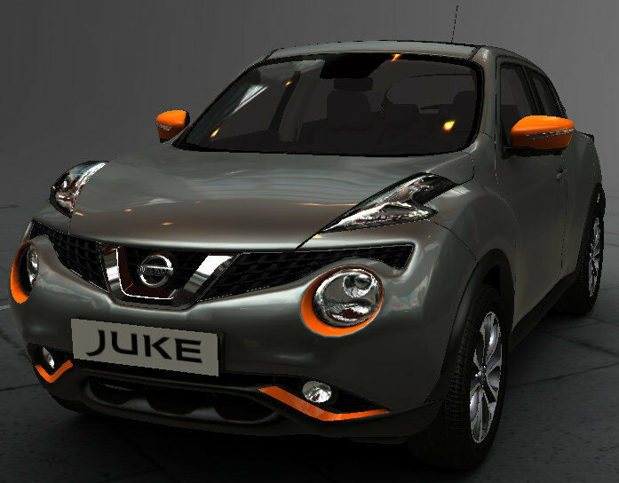 new nissan juke exclusive exterior style pack orange new genuine ke600bv011or ebay. Black Bedroom Furniture Sets. Home Design Ideas