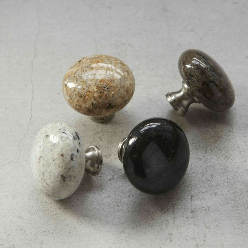 Granite Marble Natural Stone Kitchen Cabinet Cupboard Door Furniture Knobs