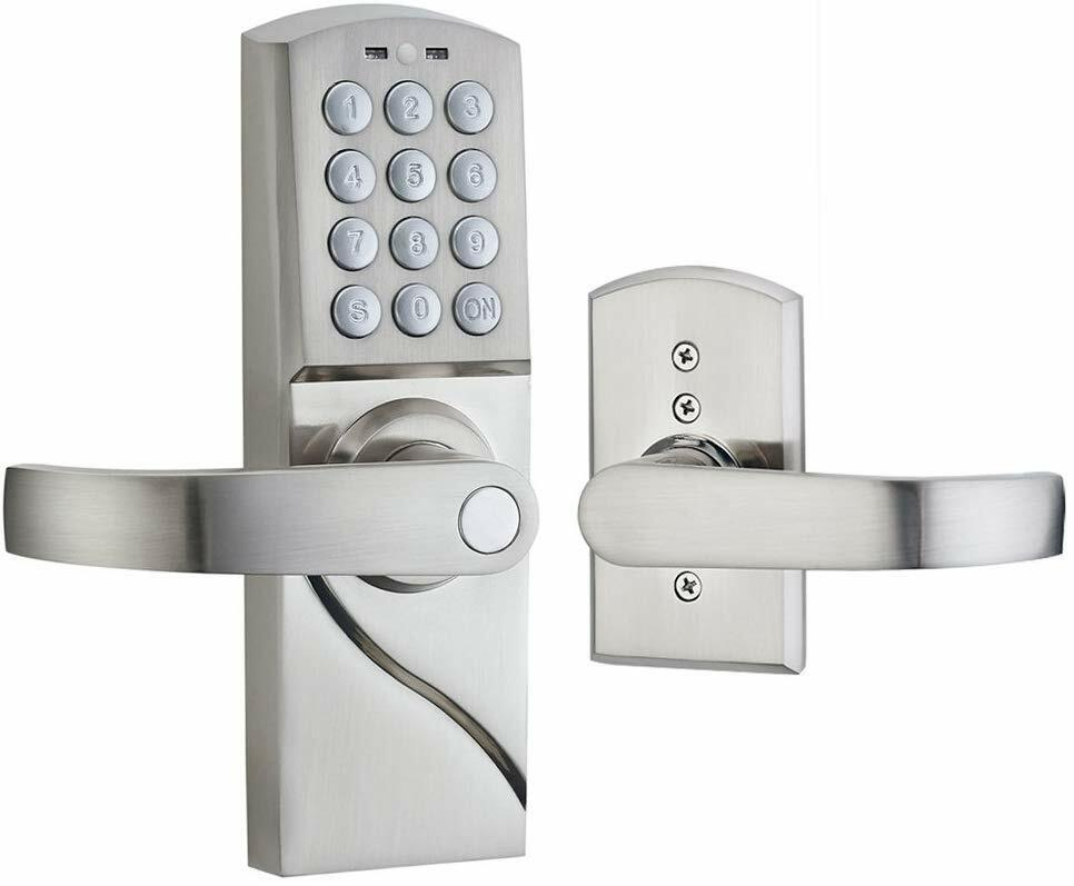 All Weather Electronic Door Lock With Digital Keypad Left