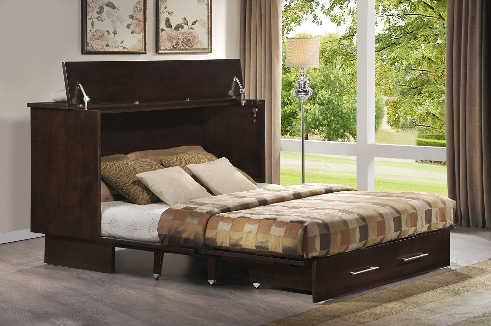 Arason Traditional Creden Zzz Murphy Cabinet Bed Coffee