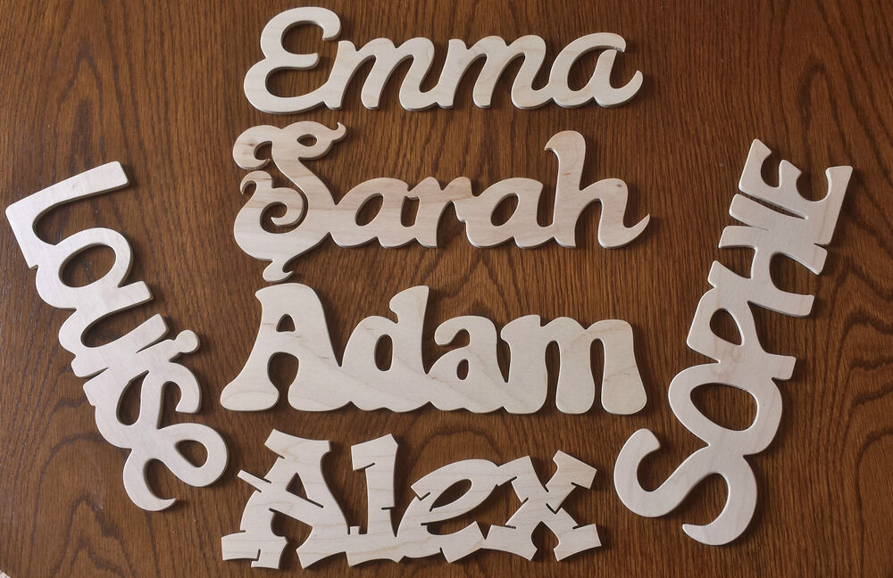 personalised wooden letters name plaque childrens door With wooden letter name plaques