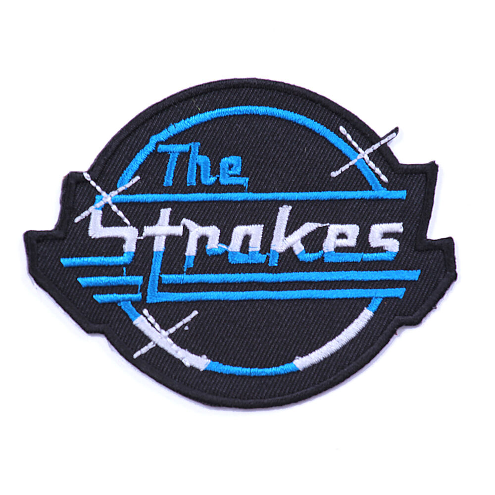The strokes heavy metal music iron on sew embroidered