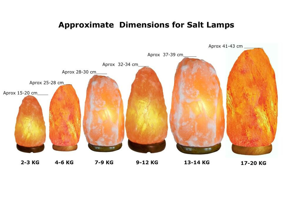 Salt Lamp Size Guide : Pink Salt Lamp - Himalayan Pink Salt Lamp - Salt Lamp - Ioniser - 6 Sizes eBay