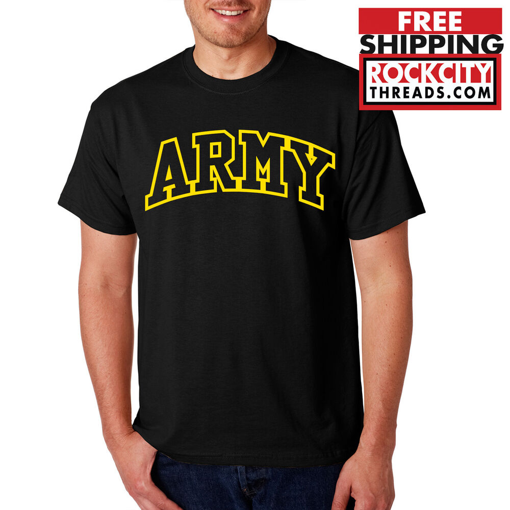 Army Arched T Shirt United States Military Usarmy Shirt