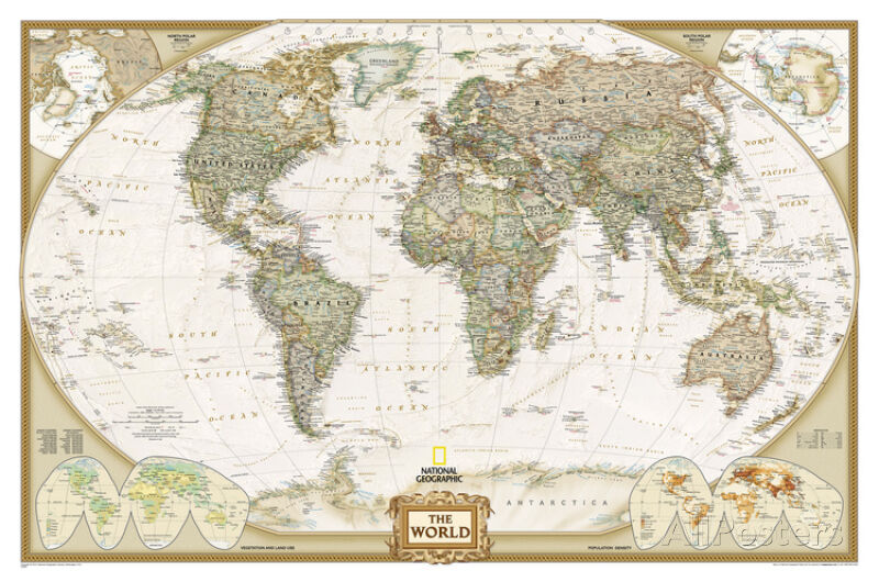 National geographic world executive map laminated poster 46x30 national geographic world executive map laminated poster 46x30 ebay gumiabroncs Choice Image