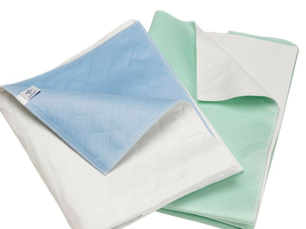 3 Reusable Bed Pads Washable Waterproof New Underpads L Ebay