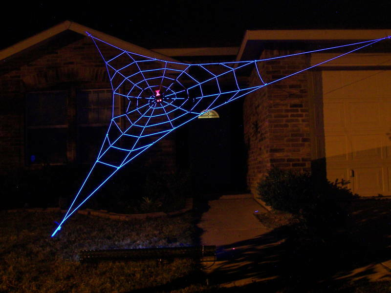 20 Almost Giant Glowweb Rope Spider Web Halloween House