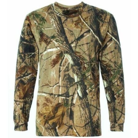 img-LONG SLEEVED TREE CAMO STEALTH T-SHIRT mens cotton tee all sizes hunting camping