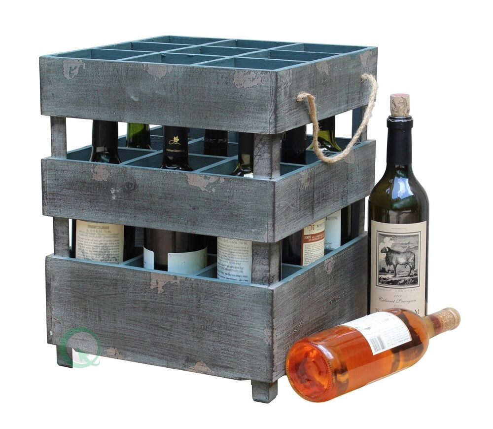 New vintiquewise antique style stackable wooden wine What to do with wine crates