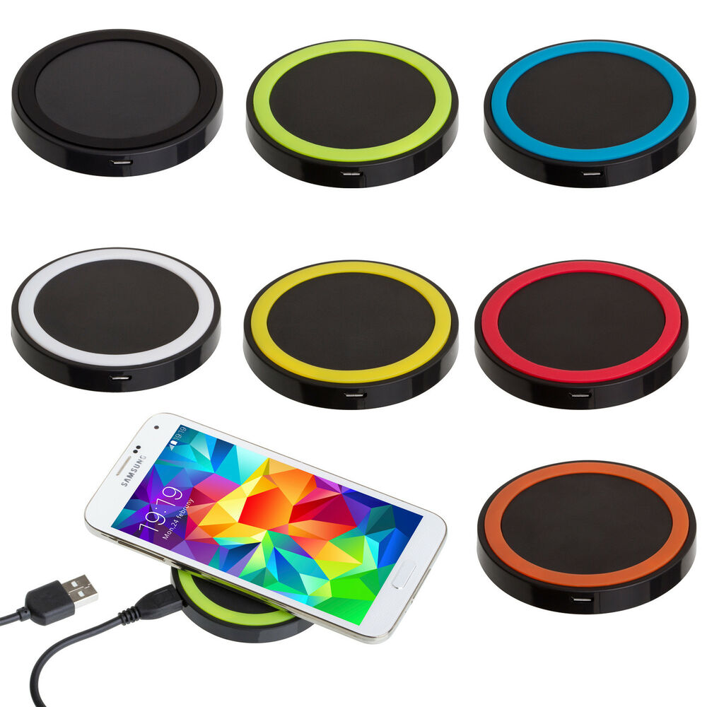 qi wireless charging charger pad for iphone samsung galaxy s5 lg nexus nokia ebay. Black Bedroom Furniture Sets. Home Design Ideas