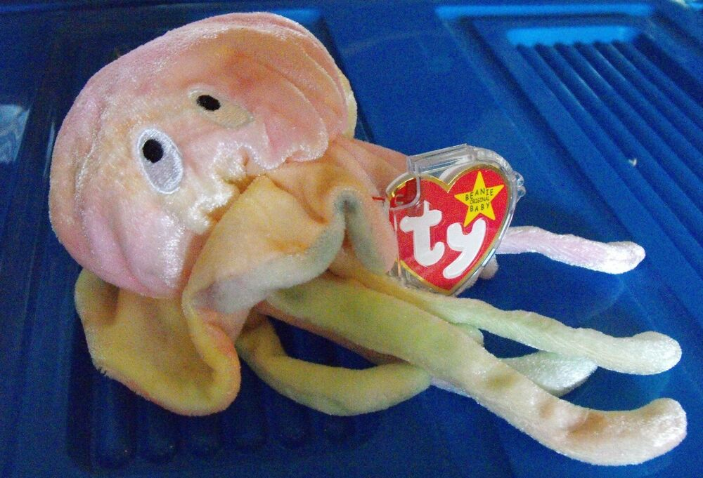 Ty jelly fish beanie baby 39 goochy 39 mwmt comes tag for Fish beanie baby