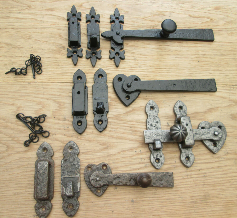 Antique Gate Latch : Cast iron old victorian vintage style cupboard door gate