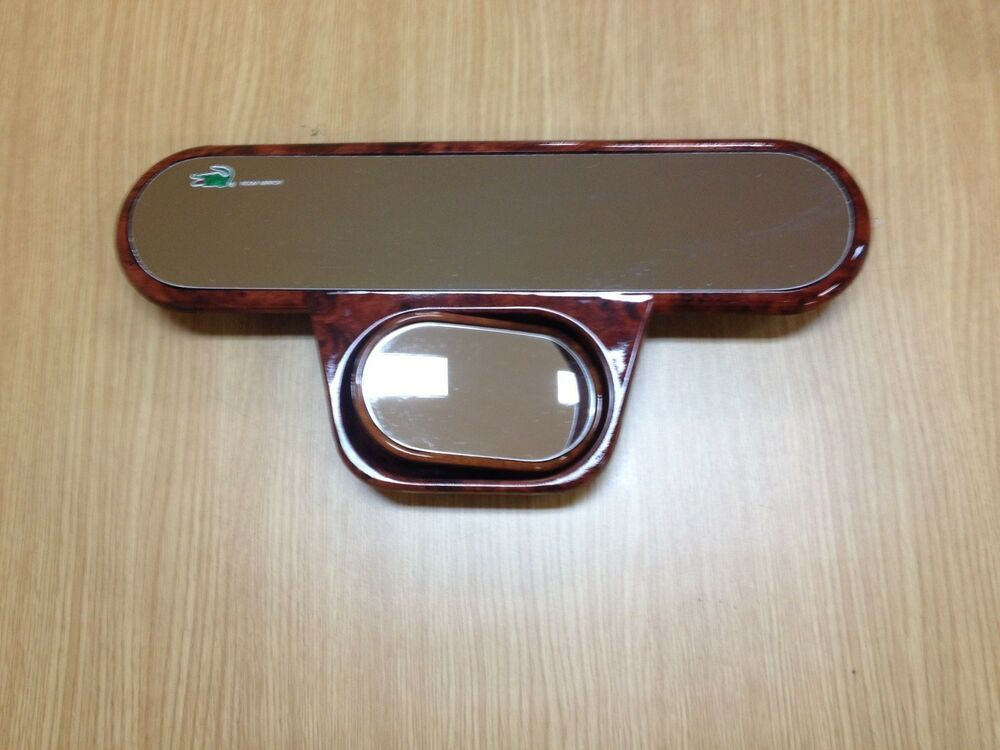 11 Quot Panoramic Wood Grain Wide 2 In 1 Safety Rear View