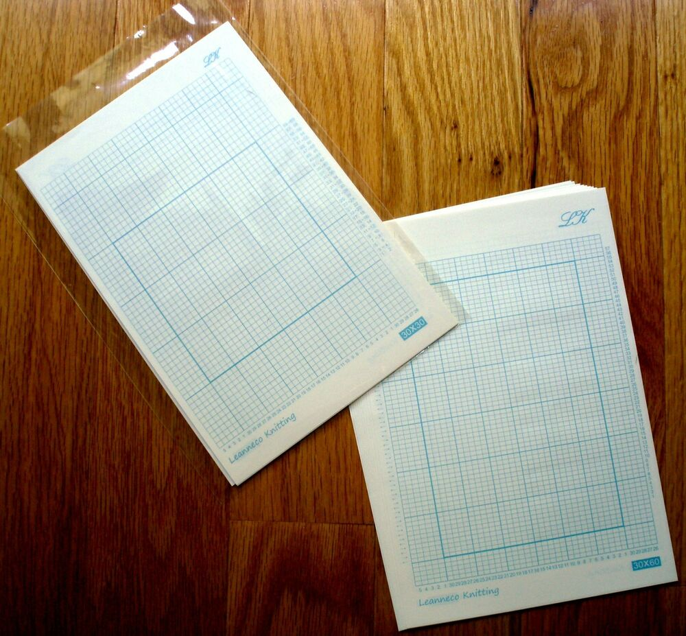 Knitting Graph Paper Uk : Grid paper for all stitch pattern punch card knitting